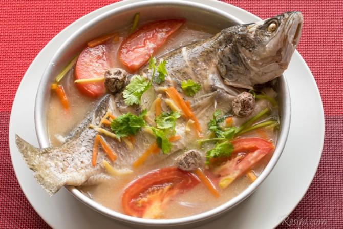 ikan bawal stim lemon hybrid art Resepi Ikan Kerapu Masak Halia Enak dan Mudah