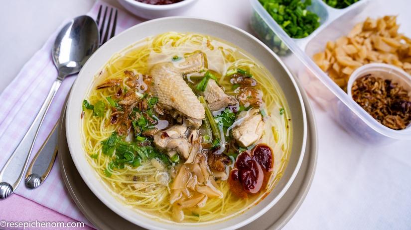 Resepi Bihun Sup Ayam Utara Yang Mudah